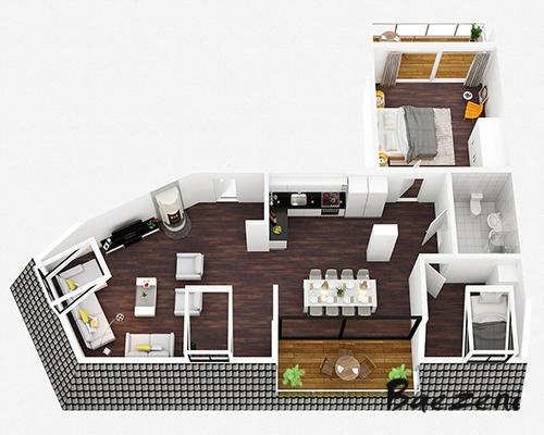 3D Premium floor plan • (2013)