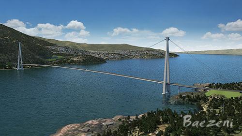 Hålogaland bridge - Narvik city • (2012)