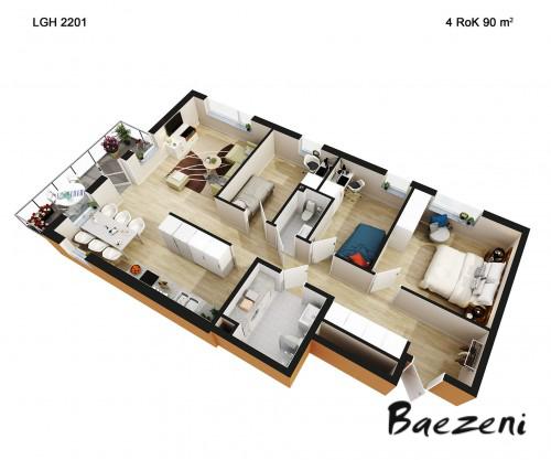 3D Premium floor plan • (2014)