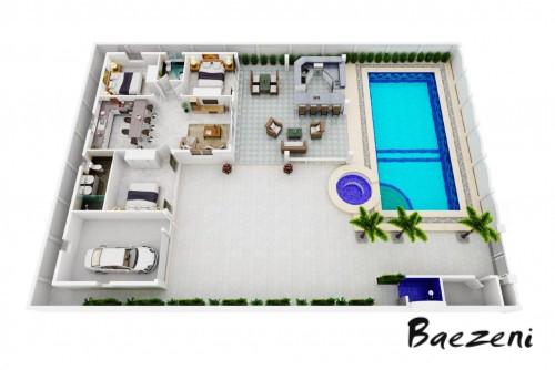 3D Premium floor plan • (2015)