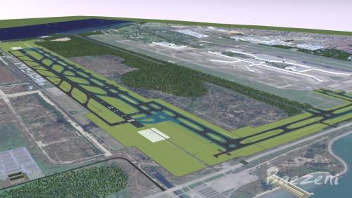 Changri Airport Runway Bim modeling • (2015)