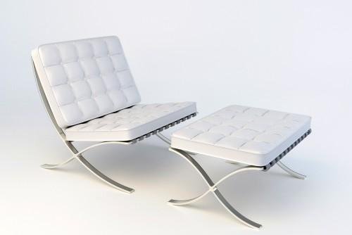 Chair white Dan 8027w