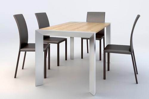 Danetti wood alu dining set